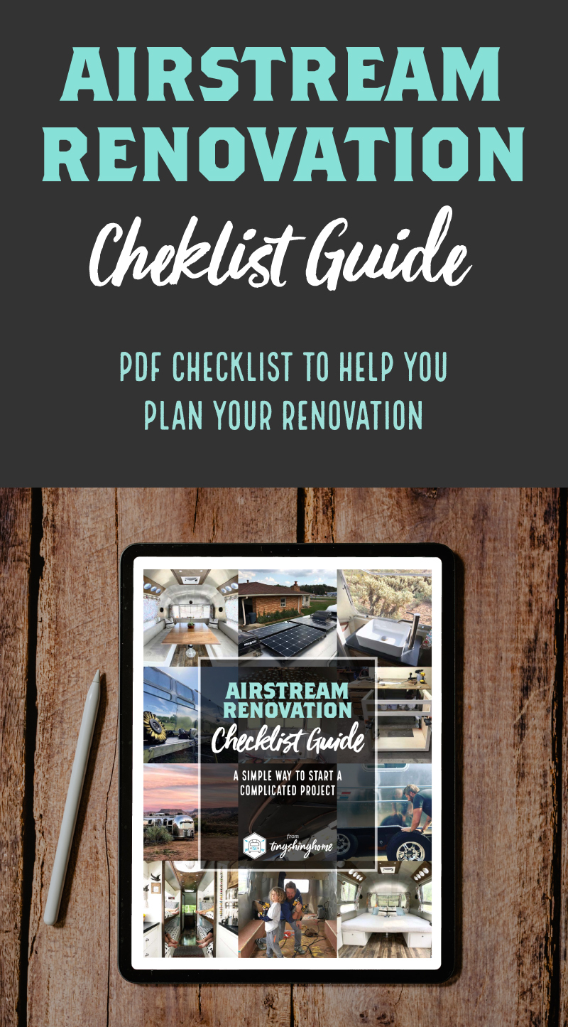 Airstream Renovation Checklist Guide - PDF Checklist to help you plan your renovation