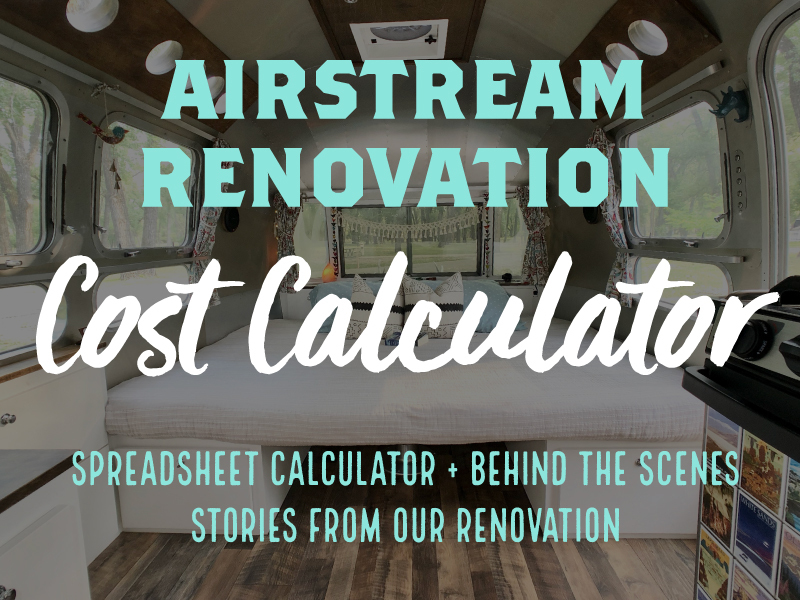 Airstream Renovation Cost Calculator