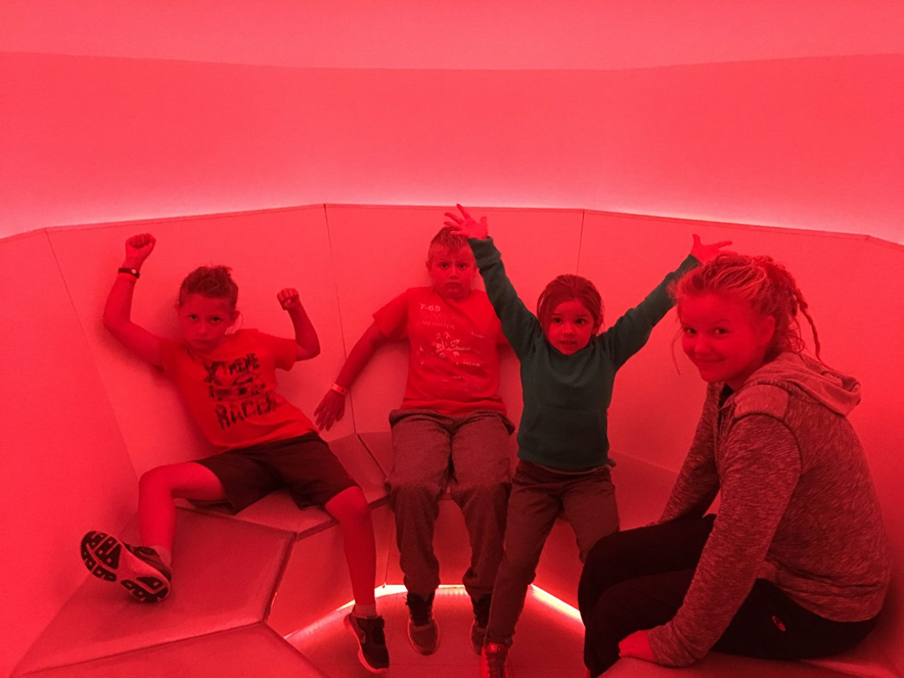Red Kids At Meow Wolf