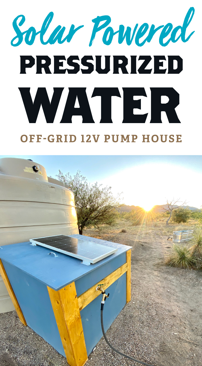 Solar Powered Pressurized Off-Grid Water Pump House