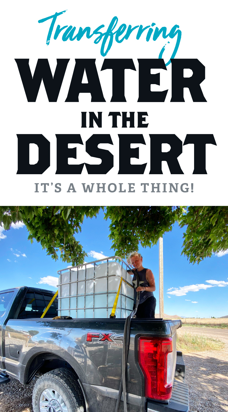 Transferring water in the desert - it's a whole thing